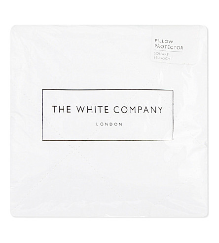 THE WHITE COMPANY Quilted cotton square pillow protector (White