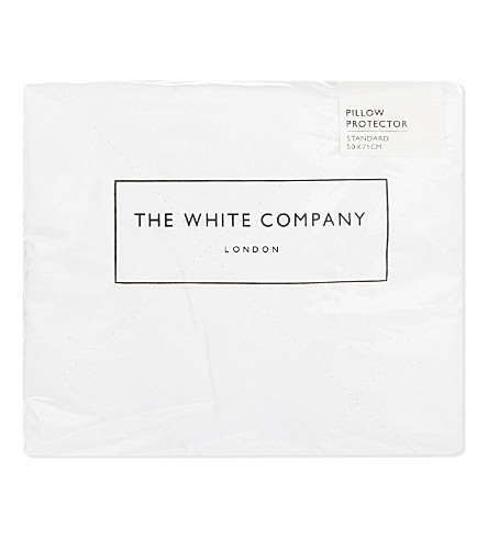 THE WHITE COMPANY Quilted cotton pillow protector (White