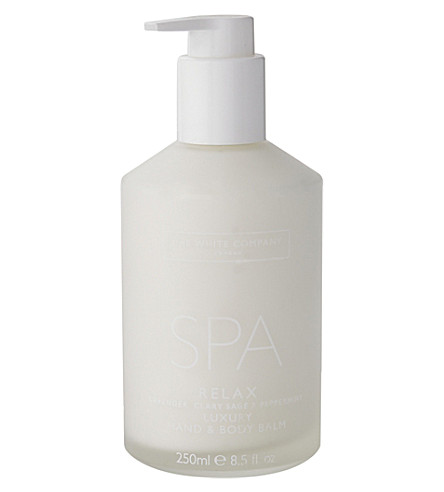 THE WHITE COMPANY Spa relax body & hand balm 250ml (No+colour