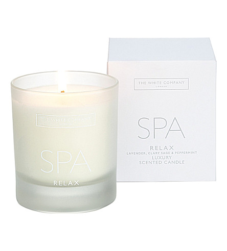 THE WHITE COMPANY Spa relax scented candle 200g (No+colour