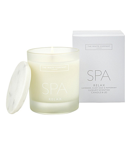 THE WHITE COMPANY Spa Relax candle with lid 200g (No+colour