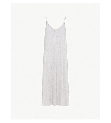 THE WHITE COMPANY Rosebud-printed jersey nightdress (Cloud+marl