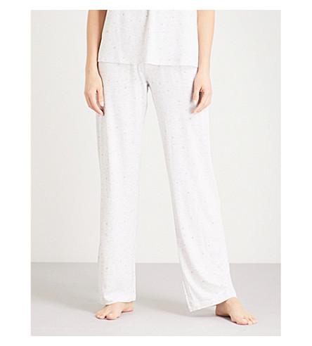 THE WHITE COMPANY Rosebud-printed jersey pyjama bottoms (Cloud+marl