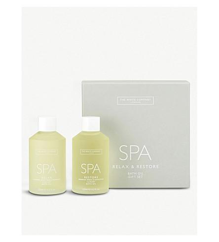 THE WHITE COMPANY Spa bath oils set of two 250ml (No+colour