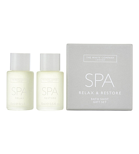 THE WHITE COMPANY Spa bath oil shot set (No+colour