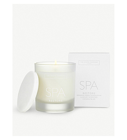 THE WHITE COMPANY Spa Restore scented candle with lid 200g (No+colour