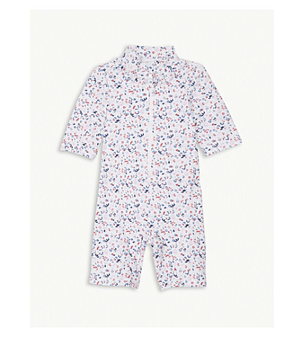 THE LITTLE WHITE COMPANY Floral print ruffled surf suit 0-24 months (Multi