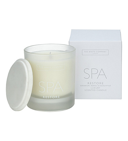 THE WHITE COMPANY Spa restore scented candle 200g (No+colour