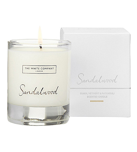 THE WHITE COMPANY Sandalwood candle 140g (No+colour