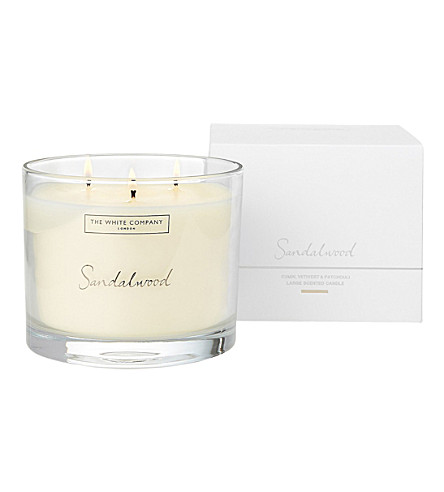 THE WHITE COMPANY Sandalwood candle 770g (No+colour