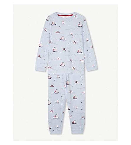 THE LITTLE WHITE COMPANY Sailing print cotton pyjamas 1-6 years (Multi