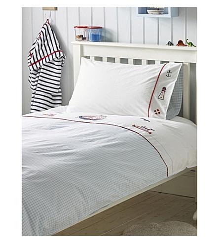 THE LITTLE WHITE COMPANY Sailboats cotton bedlinen set single (Multi