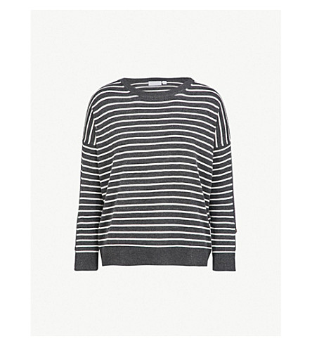 THE WHITE COMPANY Striped knitted jumper (Darkcharcmarl