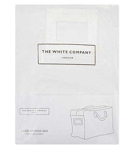 THE WHITE COMPANY Large cotton storage bag (White