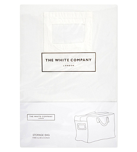 THE WHITE COMPANY Small cotton storage bag (White