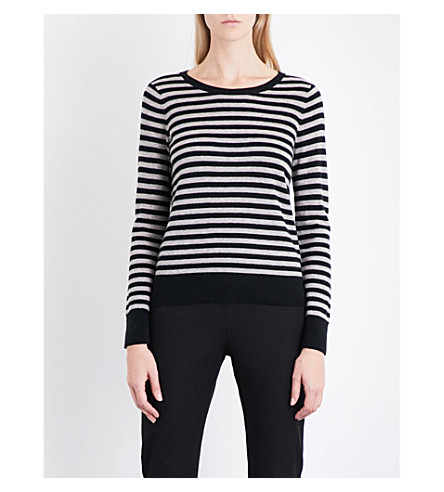 THE WHITE COMPANY Striped wool and cashmere-blend jumper (Multi