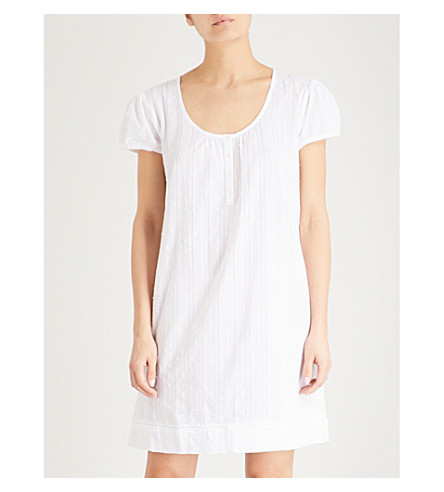 THE WHITE COMPANY Dotted cotton nightdress (White
