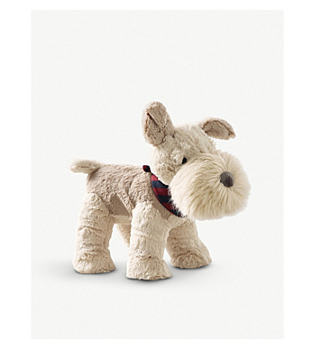 THE LITTLE WHITE COMPANY Skipper Terrier plush toy (Natural
