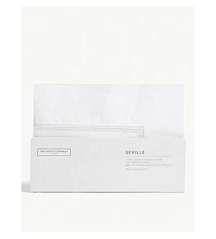 THE WHITE COMPANY 塞维利亚 superking percale 牛津枕套 (白色