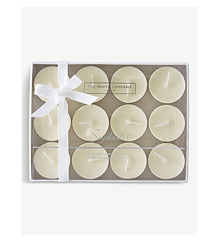 THE WHITE COMPANY Seychelles scented tea lights 12-pieces (No+colour