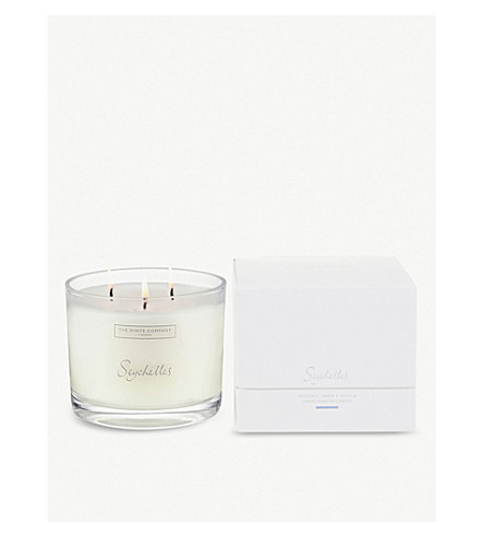 THE WHITE COMPANY Seychelles large candle