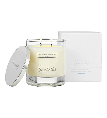 THE WHITE COMPANY Seychelles Luxury candle with lid 280g (No+colour