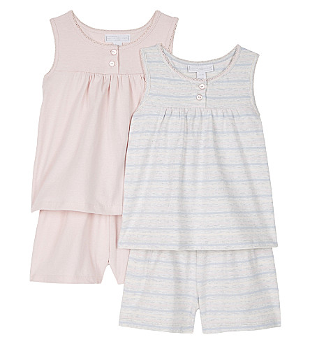THE LITTLE WHITE COMPANY Cotton top and shorts pyjama set of two 1-6 years (Multi