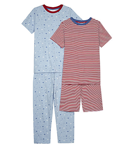 THE LITTLE WHITE COMPANY Cotton pyjamas pack of two 6-12 years (Multi