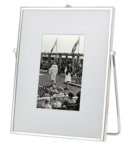 THE WHITE COMPANY Easel silver-plated photo frame 4