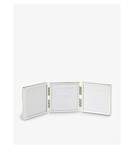 THE WHITE COMPANY 不锈钢铰链相框 (银色