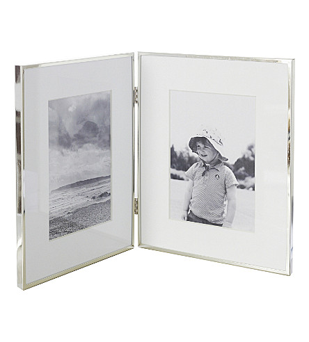 THE WHITE COMPANY Hinged silver-plated photo frame (Silver