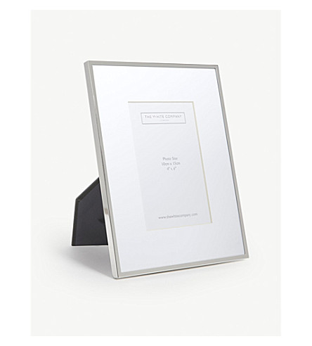 THE WHITE COMPANY Fine silver photo frame 4x6'' (Silver