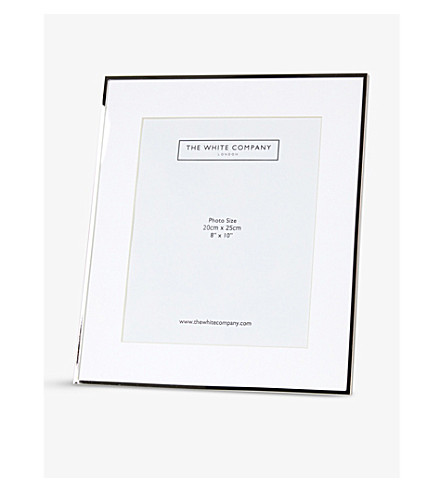 THE WHITE COMPANY Fine sterling-silver plated frame 8 x 10