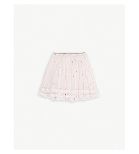 THE LITTLE WHITE COMPANY Star glitter print tutu skirt 1-6 years (Pink