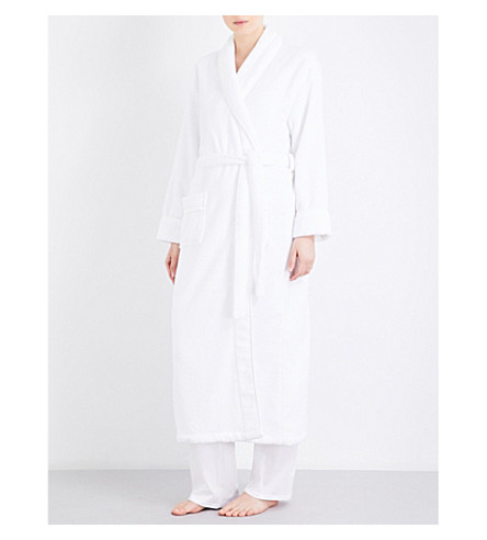 THE WHITE COMPANY Shawl-collar hydrocotton robe (White