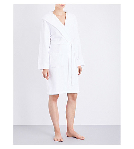 THE WHITE COMPANY Short hydrocotton dressing gown (White