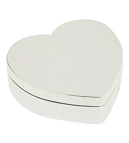 THE WHITE COMPANY Heart-shaped silver-plated box