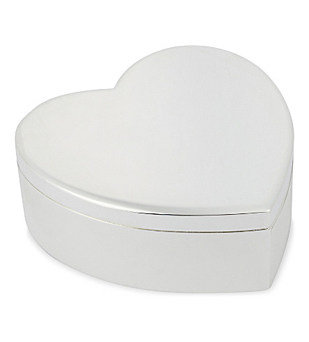 THE WHITE COMPANY Silver plated heart box (Silver