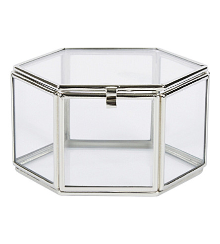 THE WHITE COMPANY Hexagonal trinket box (Clear