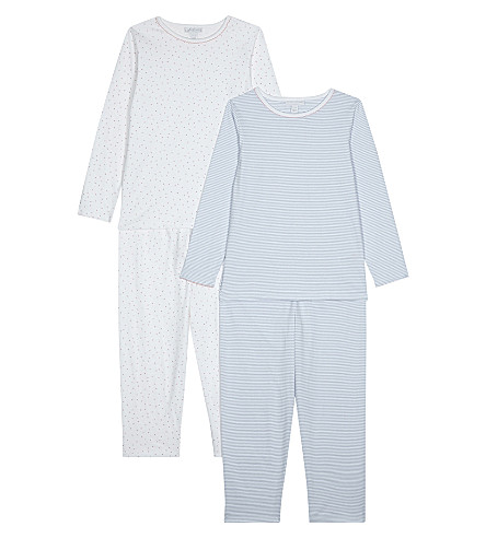 THE LITTLE WHITE COMPANY Set of two patterned pyjamas 7-12 years (Multi