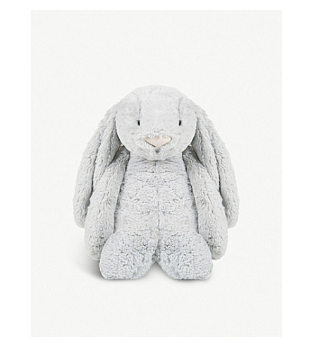 THE LITTLE WHITE COMPANY Bashful Bunny huge soft toy 50cm (Silver