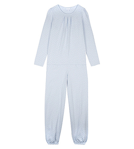 THE LITTLE WHITE COMPANY Sholah cotton pyjamas 7-12 years (White