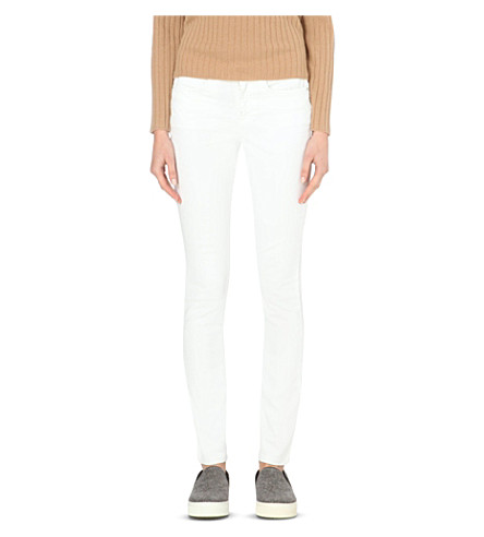 THE WHITE COMPANY Skinny mid-rise jeans (White
