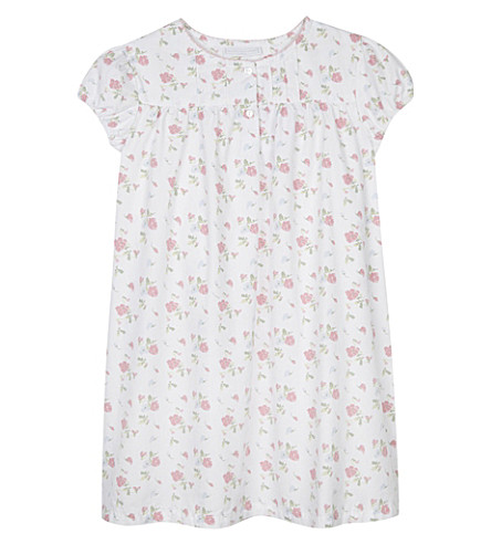 THE LITTLE WHITE COMPANY Summer sweetpea cotton nightdress 1-6 years (White