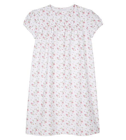 THE LITTLE WHITE COMPANY Sweetpea cotton nightdress 6-12 years (White