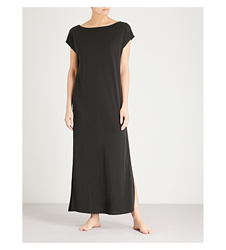 THE WHITE COMPANY Slouchy-fit jersey dress (Black