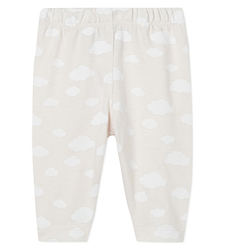 THE LITTLE WHITE COMPANY Cloud-print leggings 0-24 months (Pink