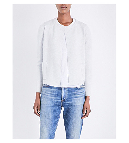 THE WHITE COMPANY Glitter-detail wool-blend cardigan (Cloud+marl