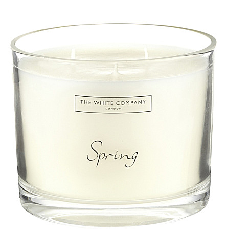 THE WHITE COMPANY Spring large candle