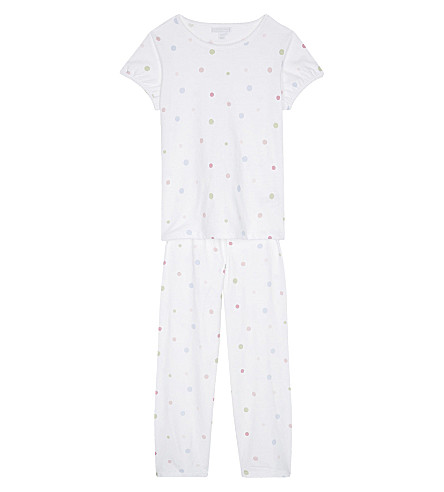 THE LITTLE WHITE COMPANY Spotty cotton pyjamas 6-12 years (Multi